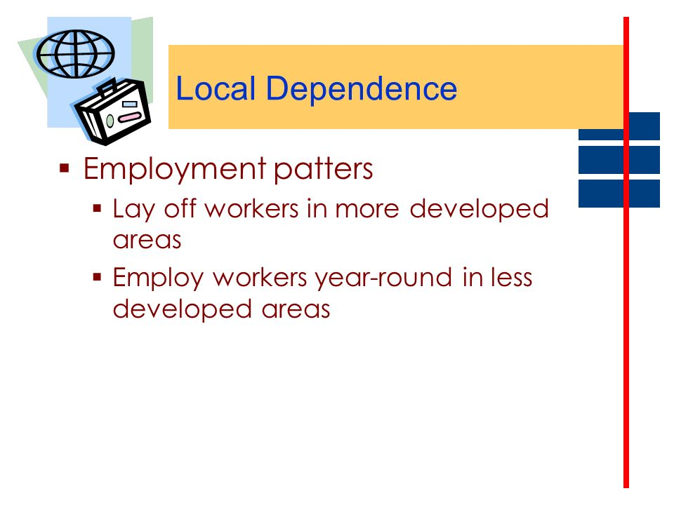 Local Dependence Employment patters
