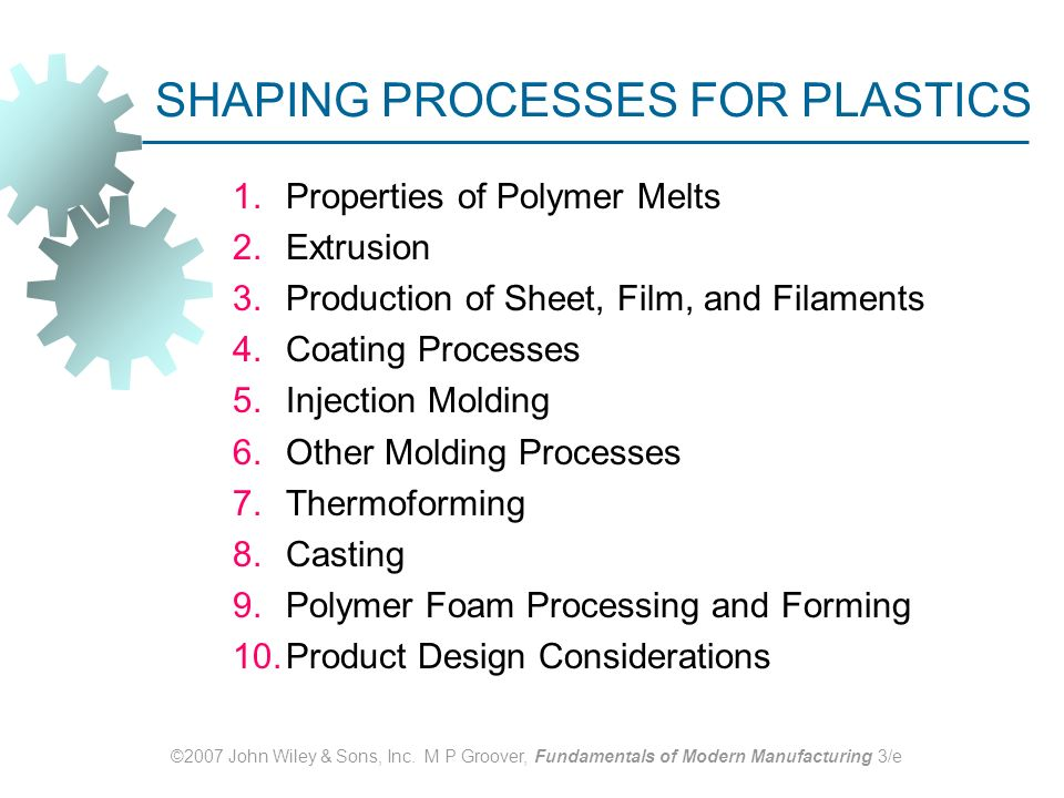 Shaping Processes For Plastics Ppt Download