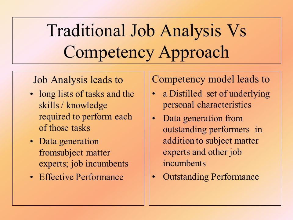 Employment and analytic skills