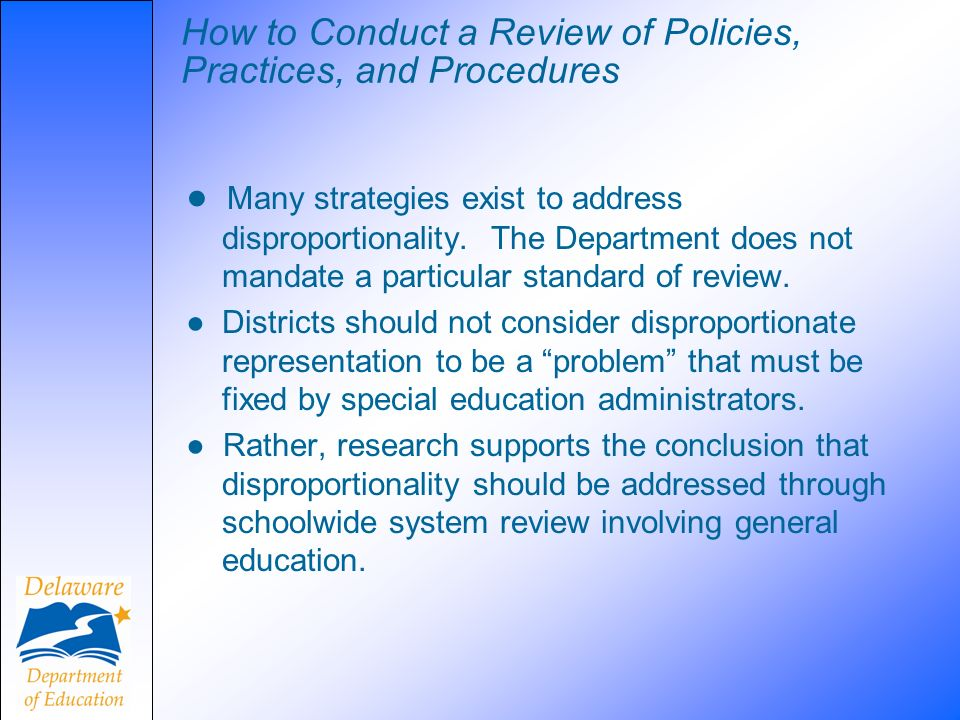 How to Conduct a Review of Policies, Practices, and Procedures