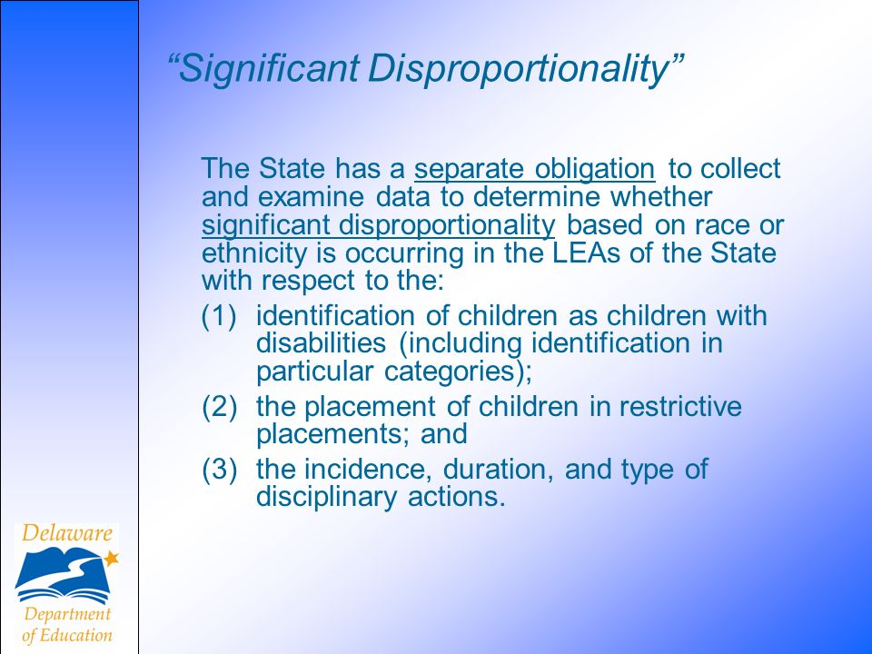 Significant Disproportionality