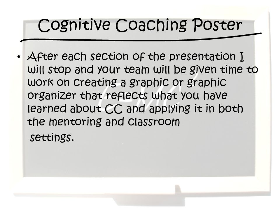 Cognitive Coaching Poster
