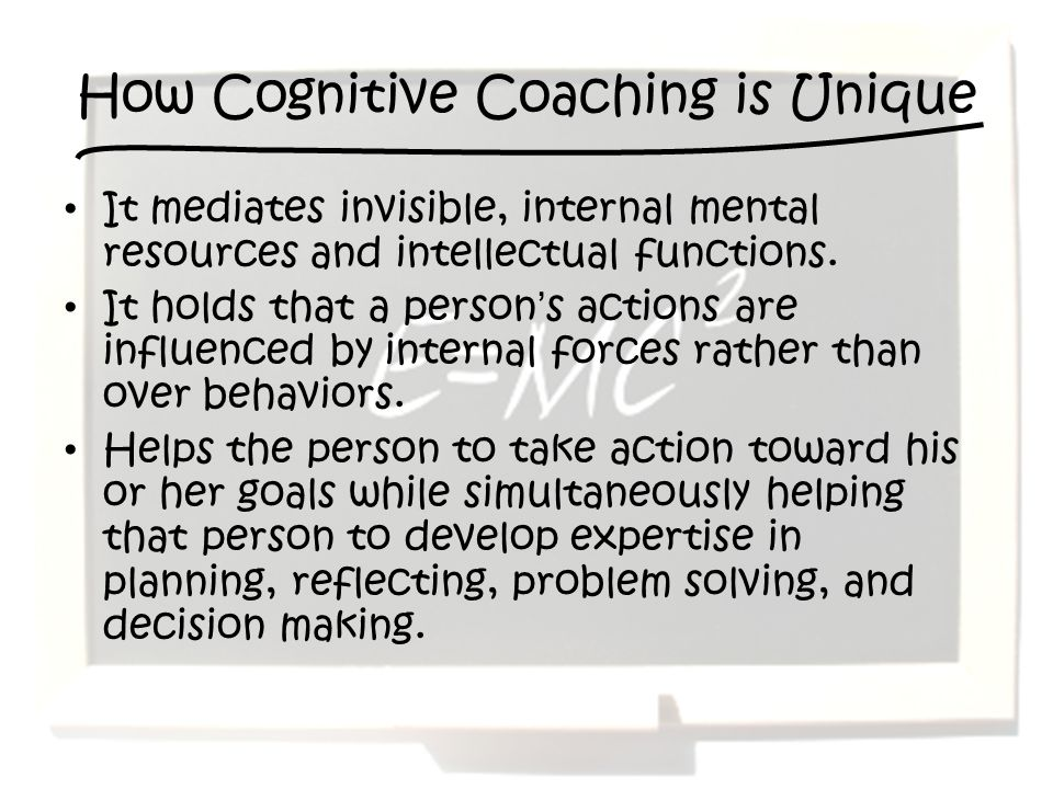 How Cognitive Coaching is Unique
