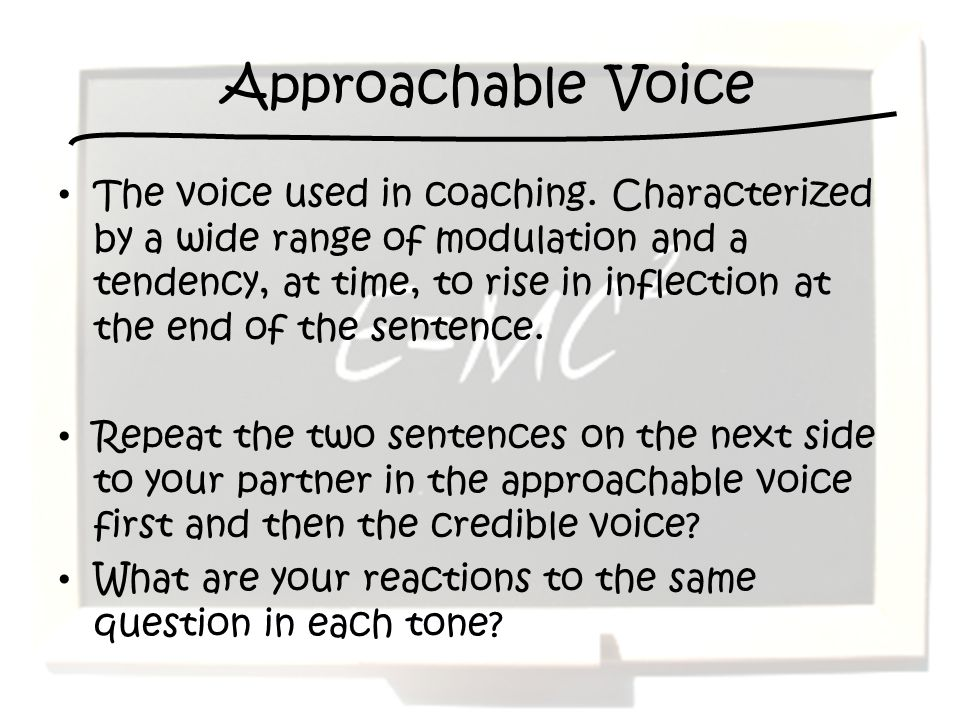 Approachable Voice