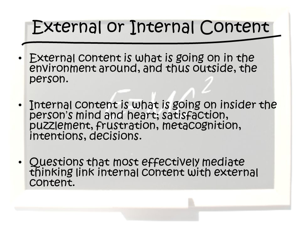 External or Internal Content