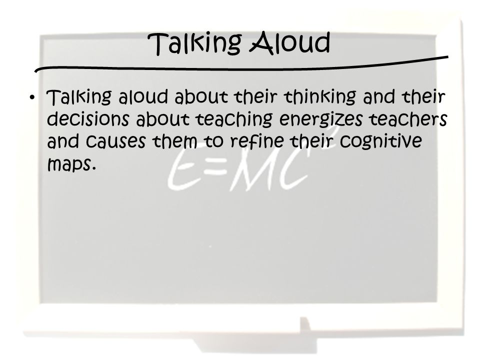 Talking Aloud