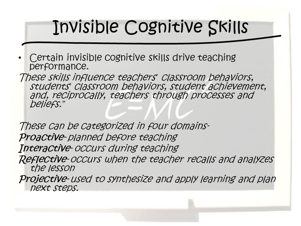 Invisible Cognitive Skills