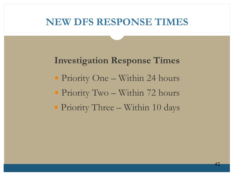 Investigation Response Times