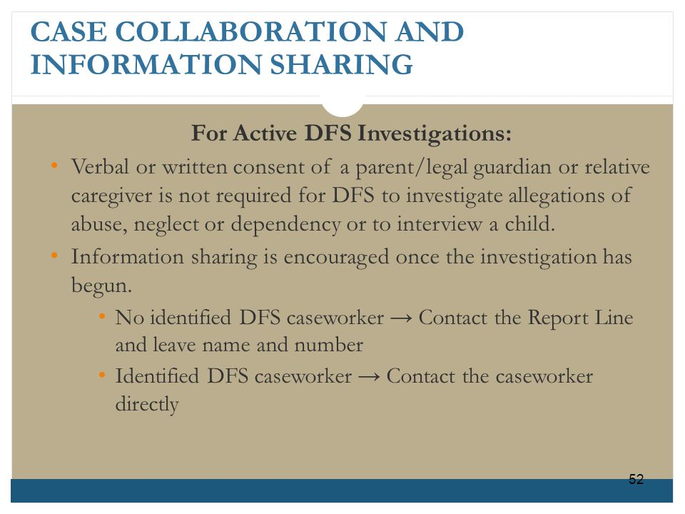 CASE COLLABORATION AND INFORMATION SHARING