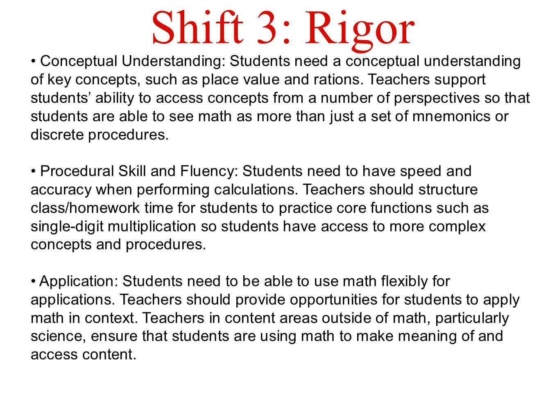 Shift 3: Rigor