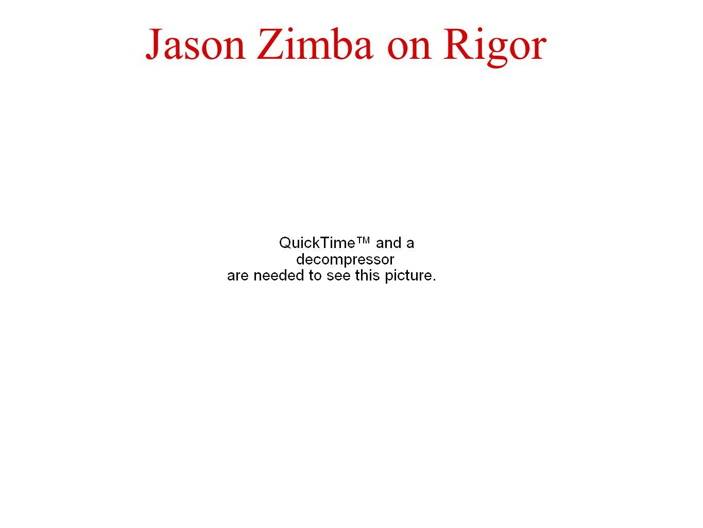Jason Zimba on Rigor