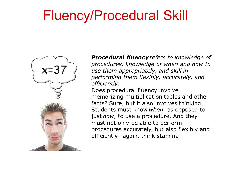 Fluency/Procedural Skill
