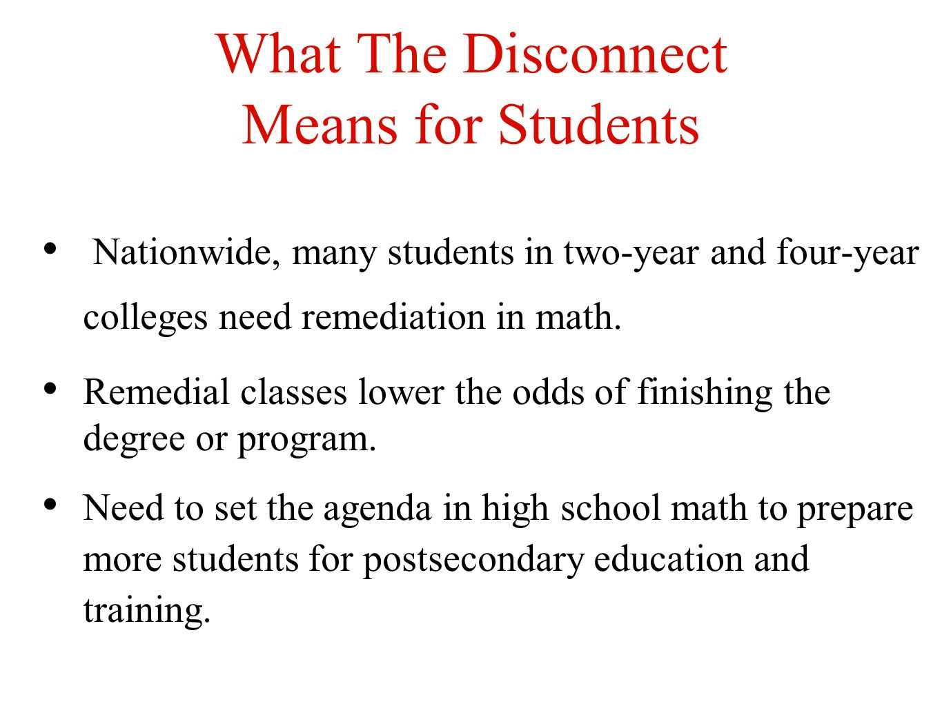 What The Disconnect Means for Students
