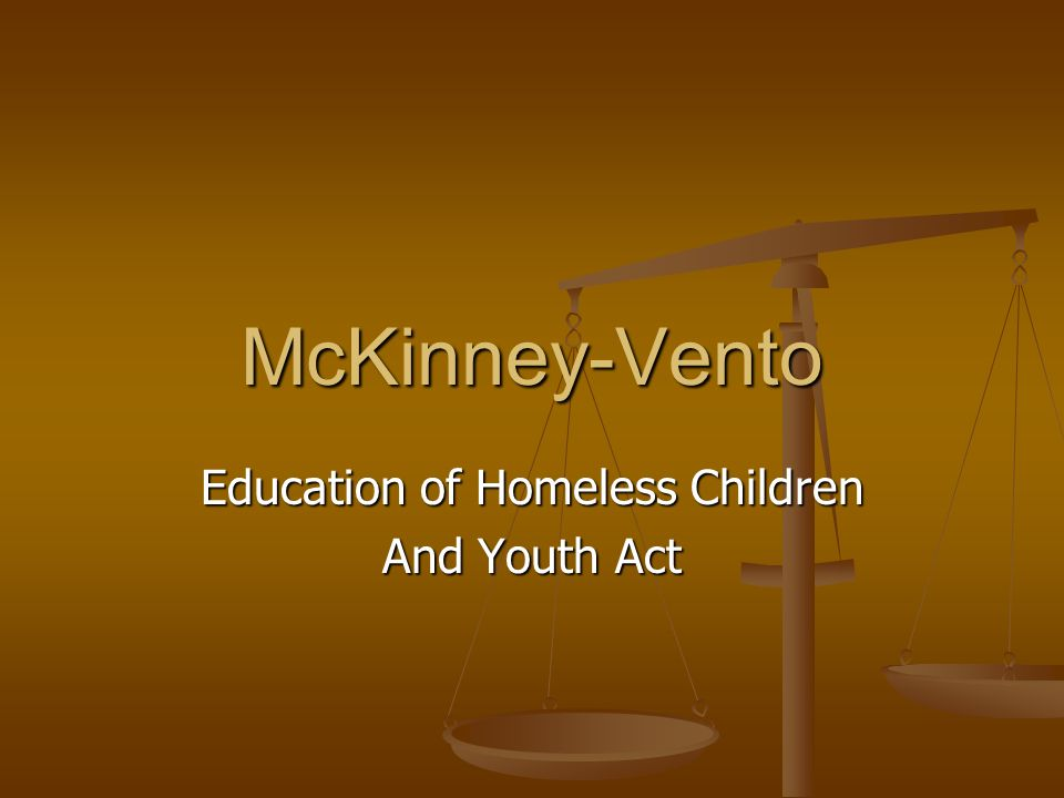 Education of Homeless Children And Youth Act