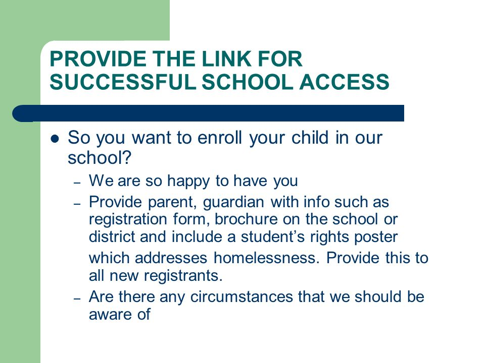 PROVIDE THE LINK FOR SUCCESSFUL SCHOOL ACCESS