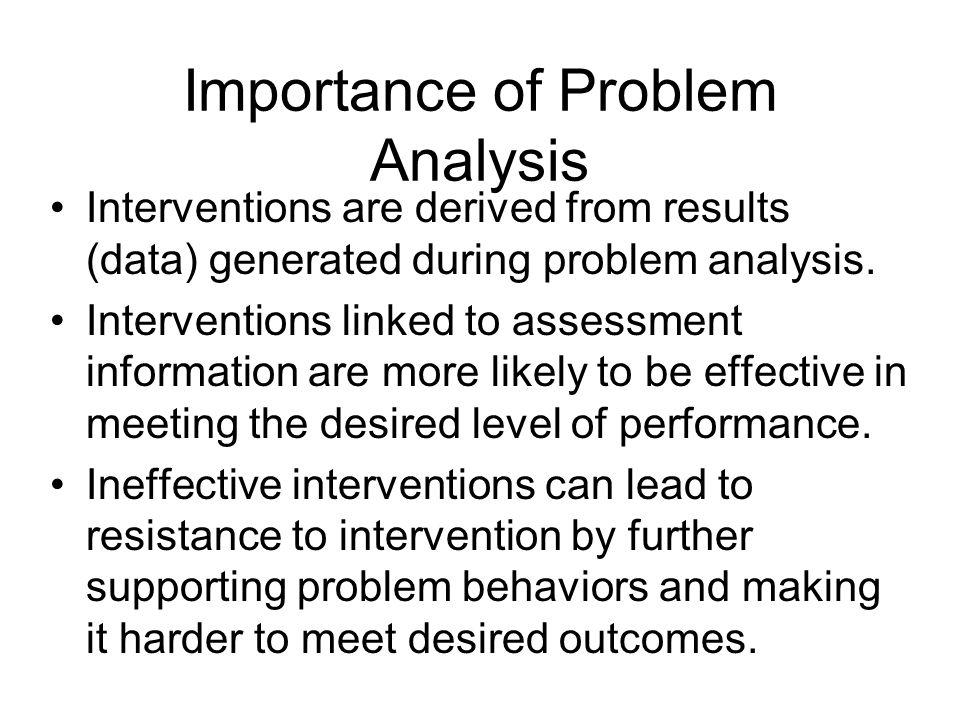 Importance of Problem Analysis