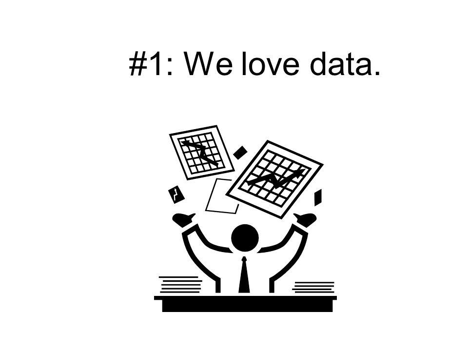 #1: We love data.