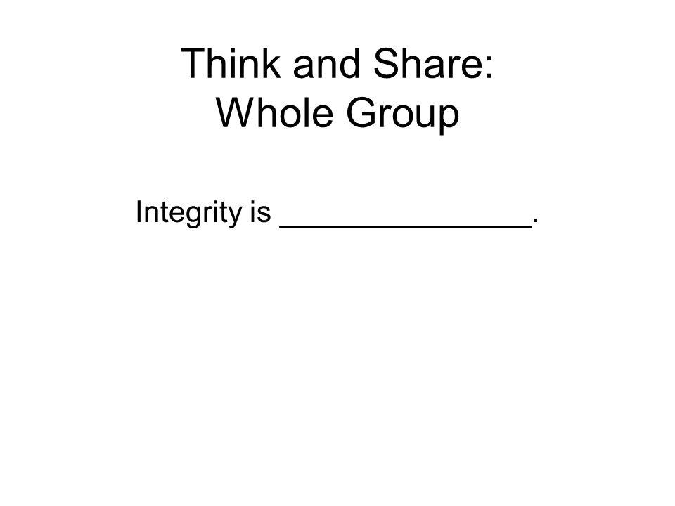 Think and Share: Whole Group