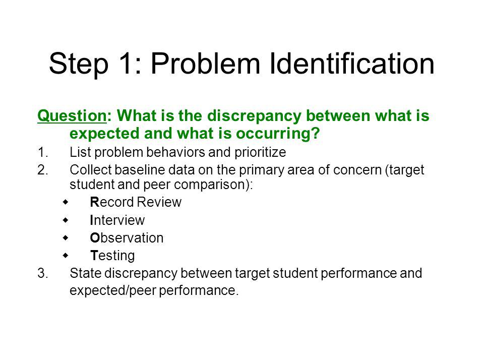 Step 1: Problem Identification