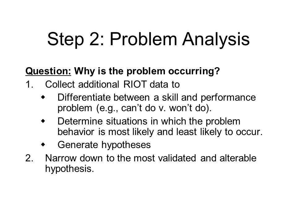 Step 2: Problem Analysis