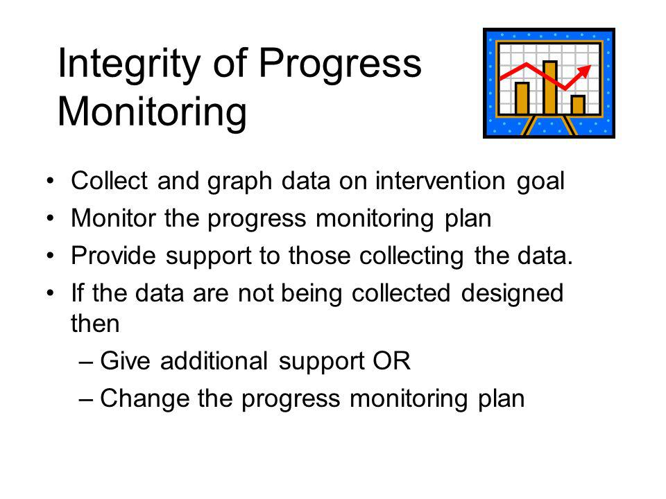 Integrity of Progress Monitoring