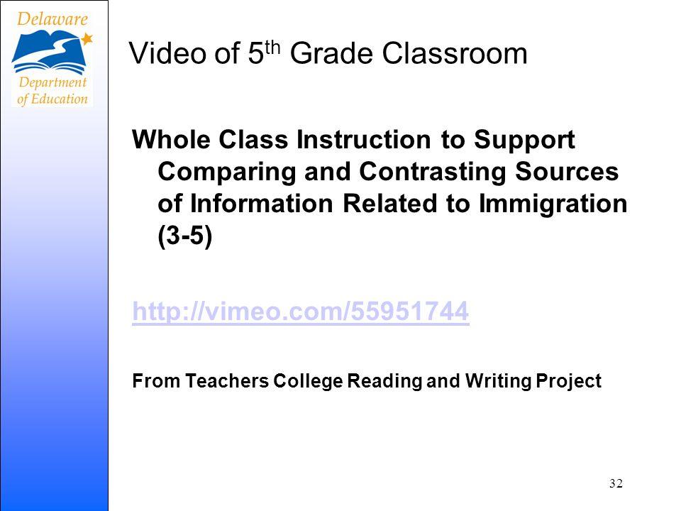 Video of 5th Grade Classroom