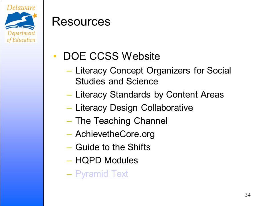 Resources DOE CCSS Website