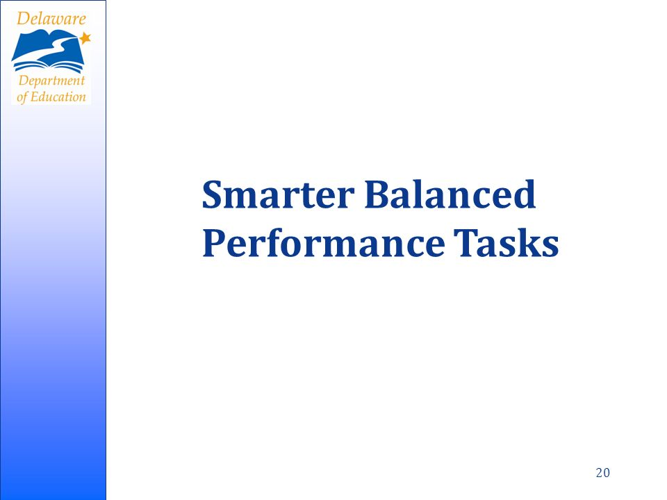 Smarter Balanced Performance Tasks