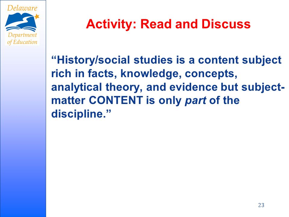 CCSS Literacy in History/Social Studies