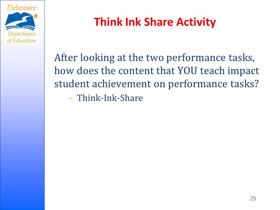 Think Ink Share Activity