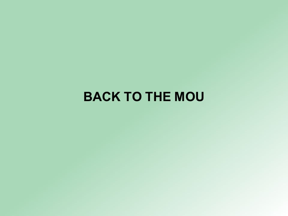 BACK TO THE MOU