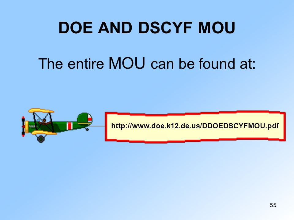 The entire MOU can be found at: