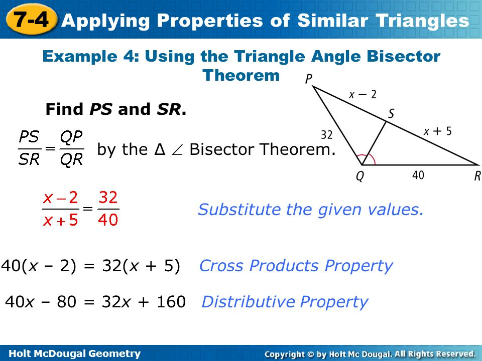 how to find the bisector of a triangle