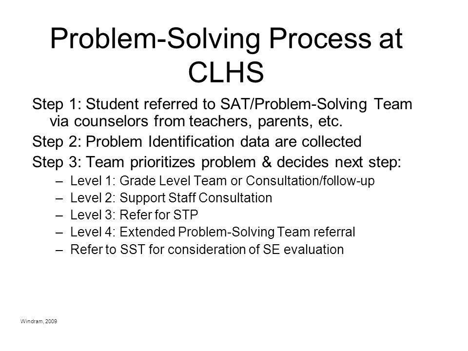 Problem-Solving Process at CLHS