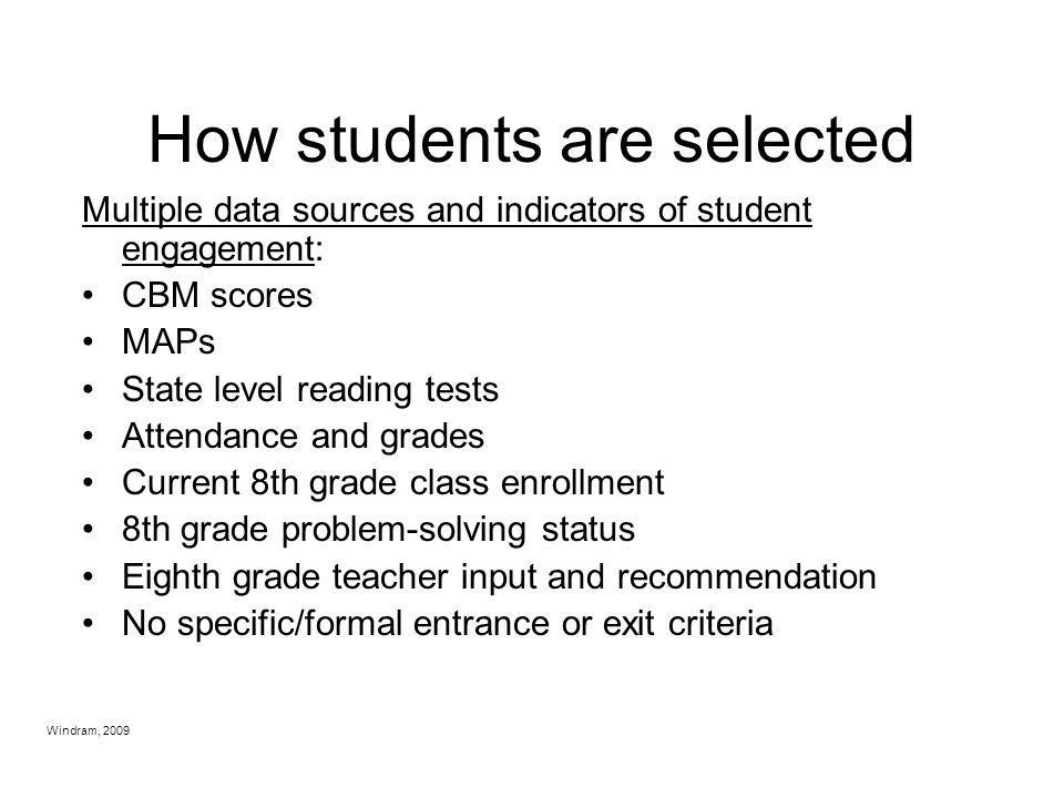 How students are selected