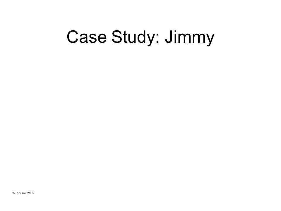 Case Study: Jimmy Windram, 2009