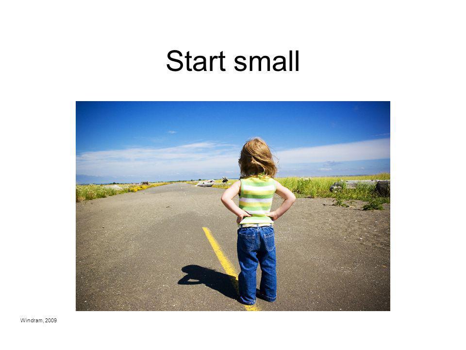 Start small Secondary: Ninth Grade Windram, 2009