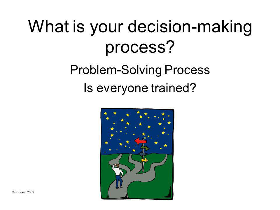 What is your decision-making process