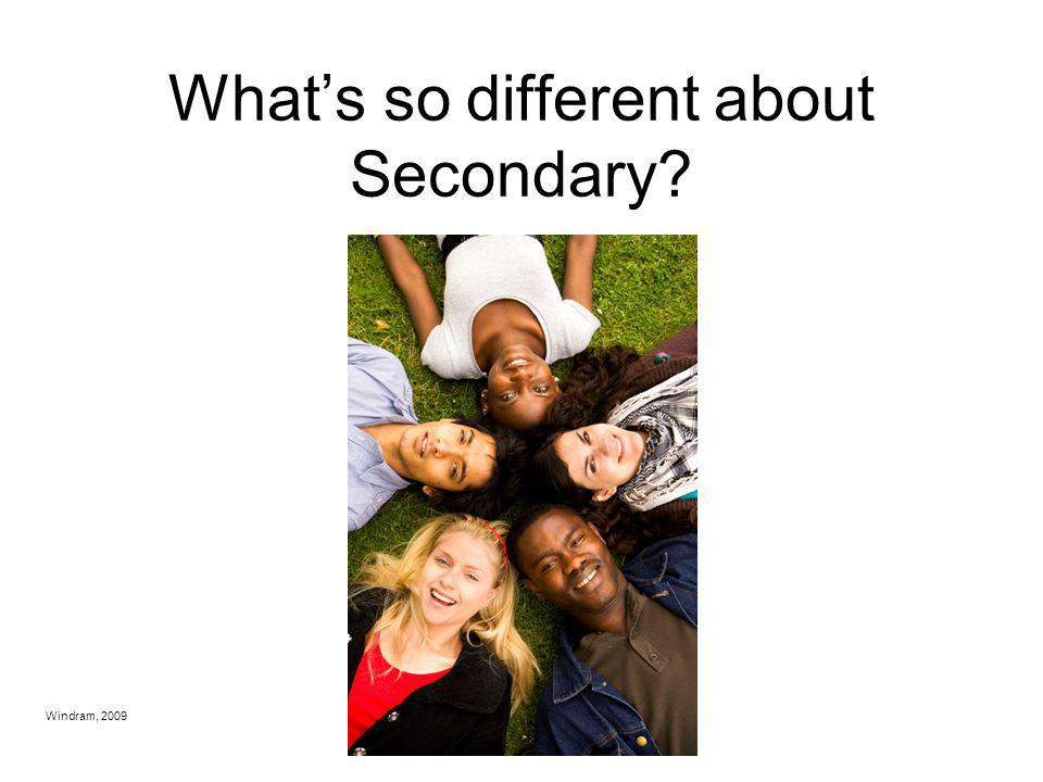 What's so different about Secondary