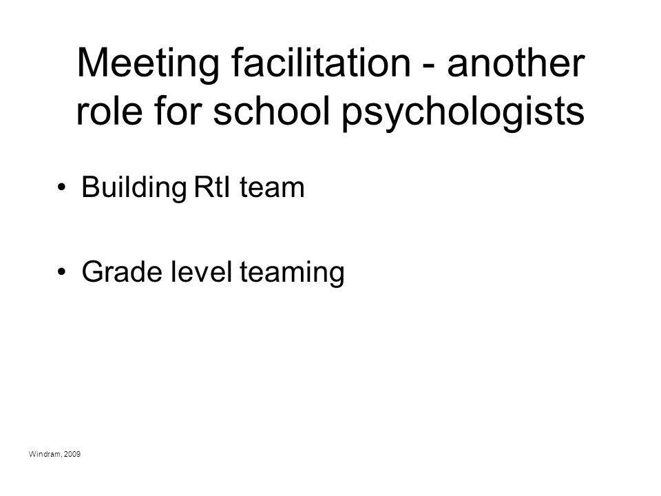 Meeting facilitation - another role for school psychologists