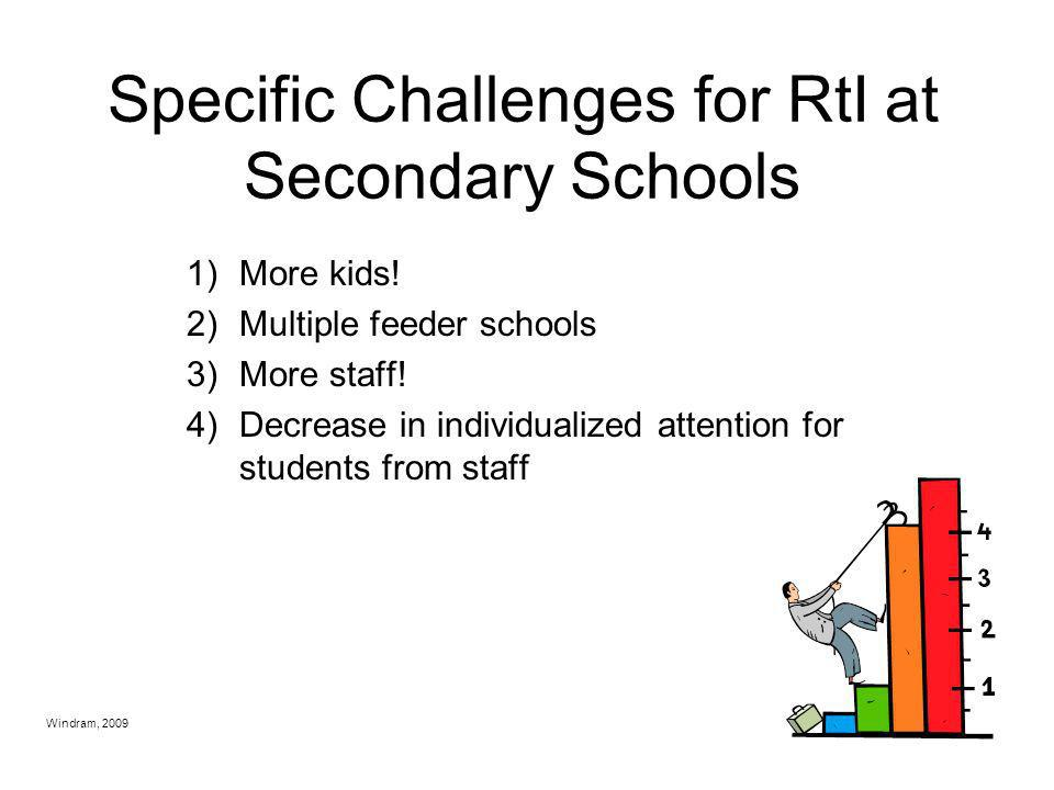 Specific Challenges for RtI at Secondary Schools