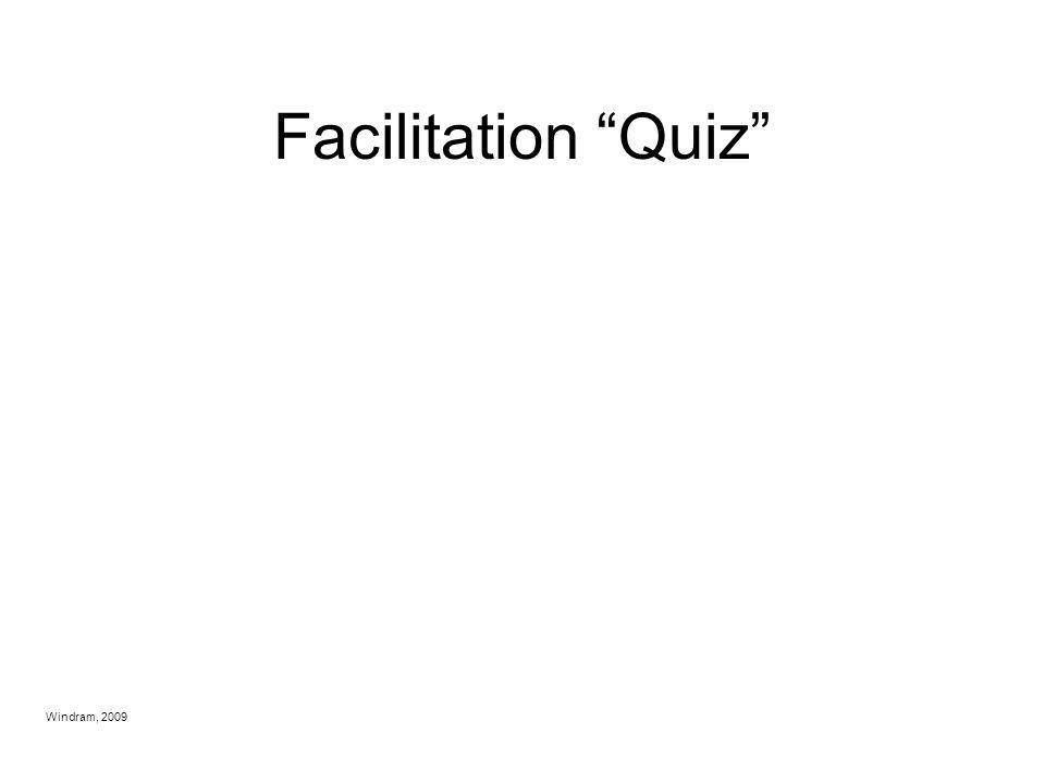 Facilitation Quiz Windram, 2009