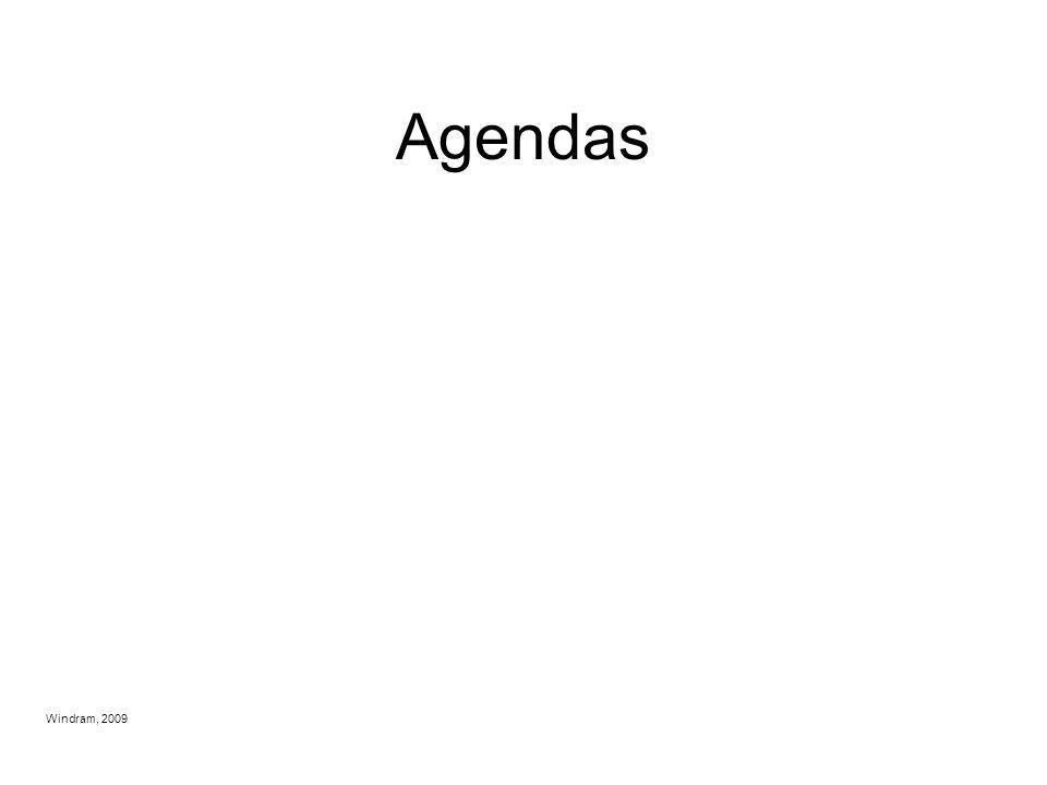 Agendas Windram, 2009