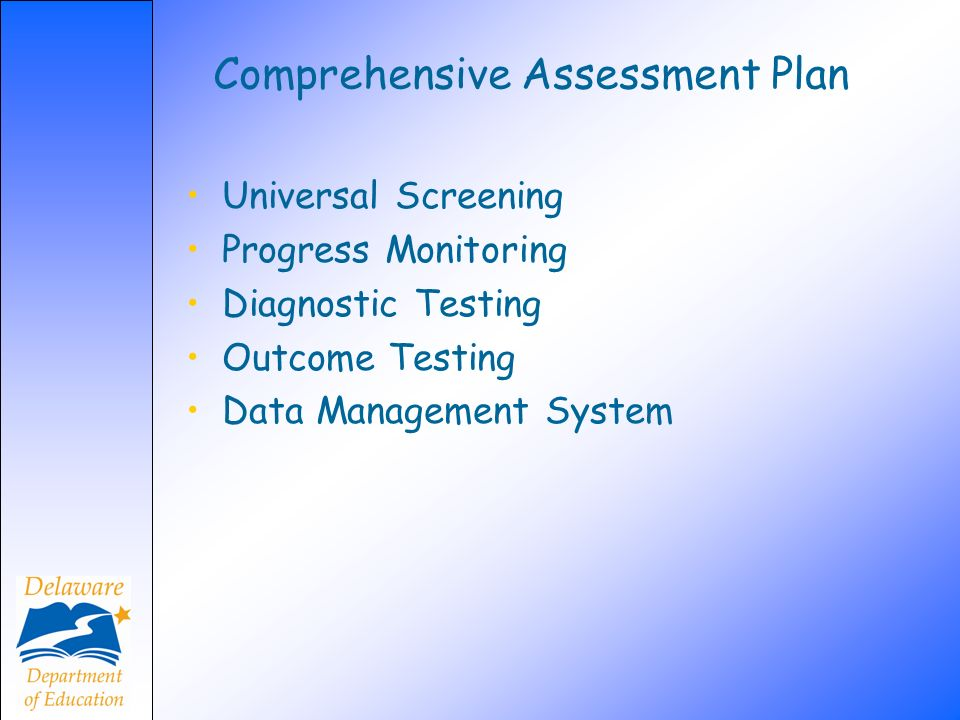 Comprehensive Assessment Plan