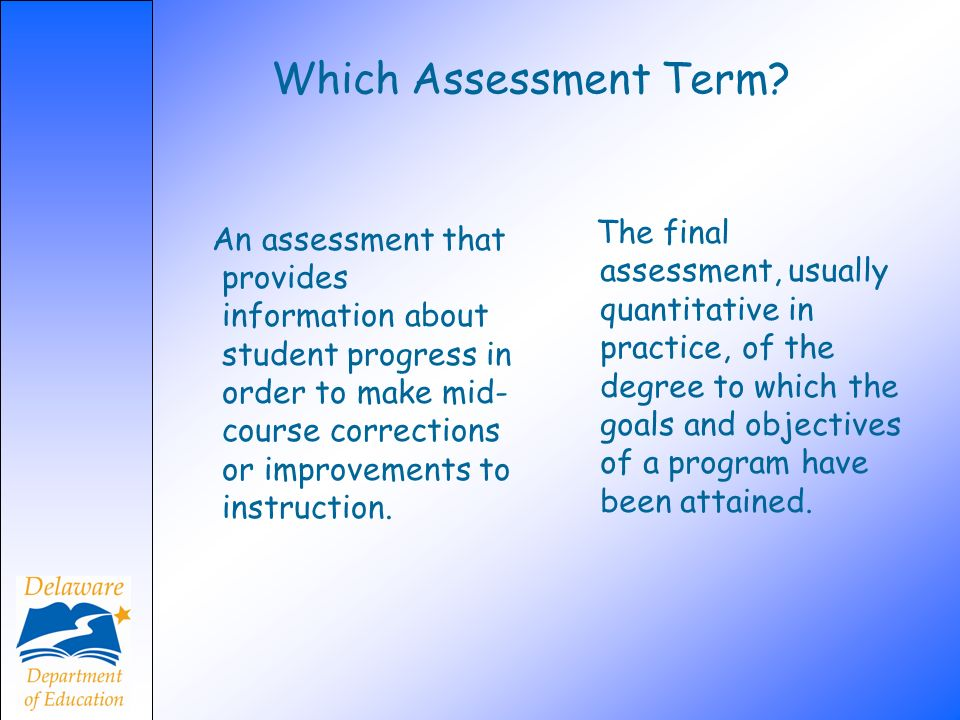Which Assessment Term