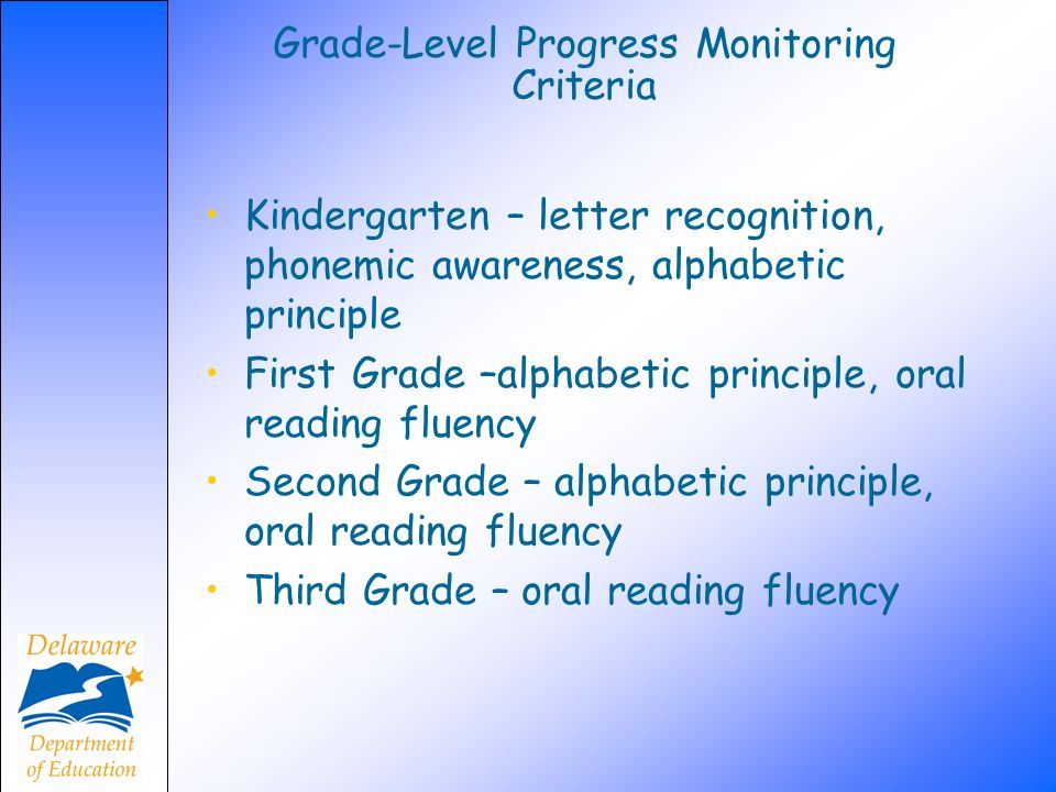 Grade-Level Progress Monitoring Criteria