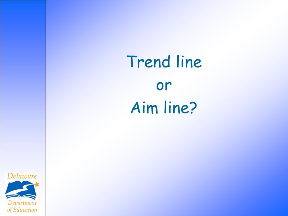 Trend line or. Aim line We would like to share a DIBELS report but first we need to think about these.