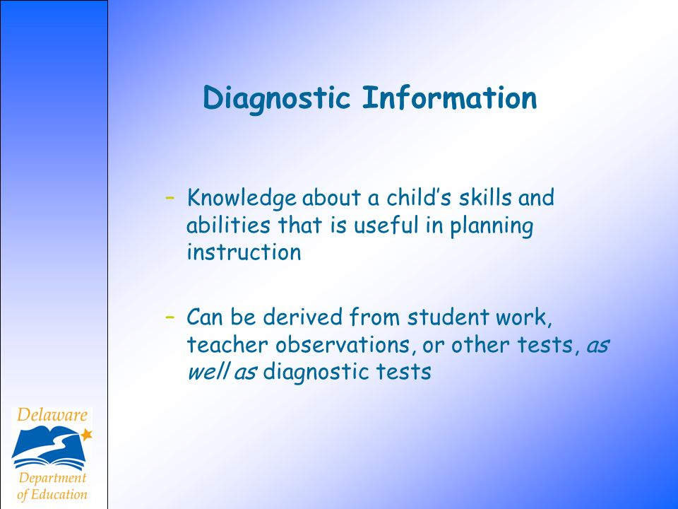 Diagnostic Information