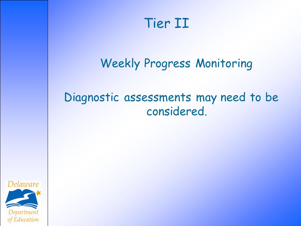 Tier II Weekly Progress Monitoring
