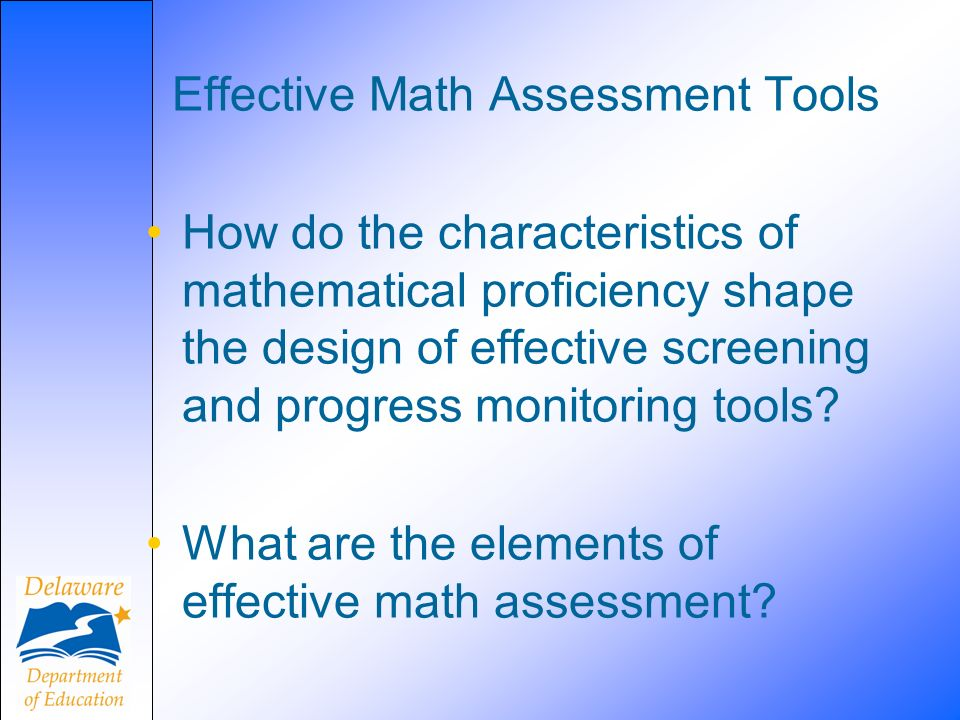Effective Math Assessment Tools